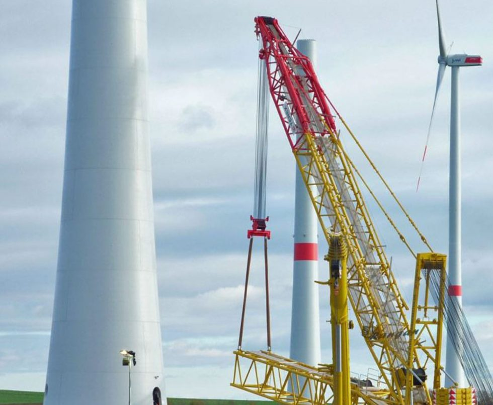 12,6 MW Windpark Im Bau